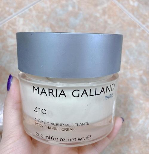 maria galland 410 body shaping cream giúp đánh bay mỡ thừa