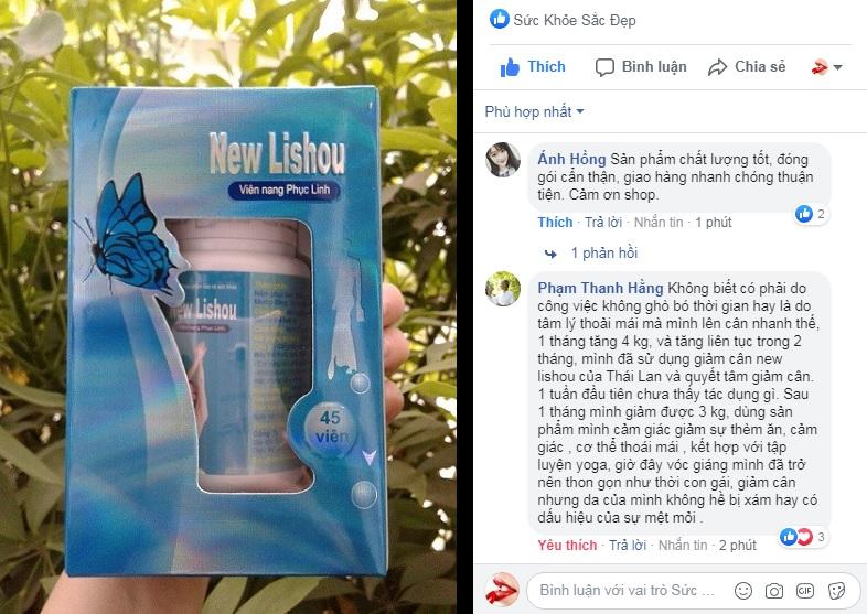 Review viên giảm cân Phục Linh New Lishou
