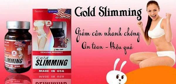 Review viên giảm cân nhanh Gold Slimming