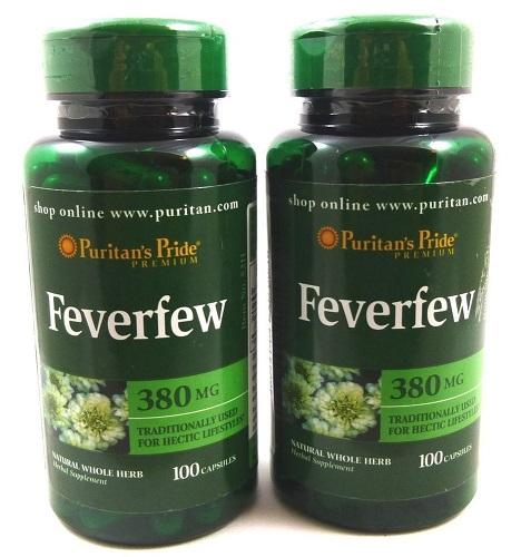 Feverfew 380 mg hạn chế cục máu đông ngăn ngừa tai biến mạch máu não
