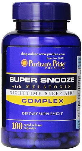 super snooze with melatonin  puritan's pride 100 viên
