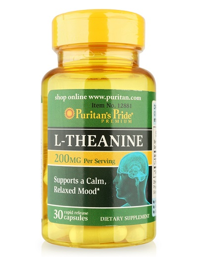 l-theanine 200mg puritan's pride lọ 30 viên