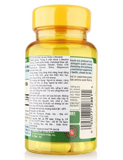 Người lớn uống 2 viên l-theanine 200 mg mỗi ngày tốt cho công việc trí óc
