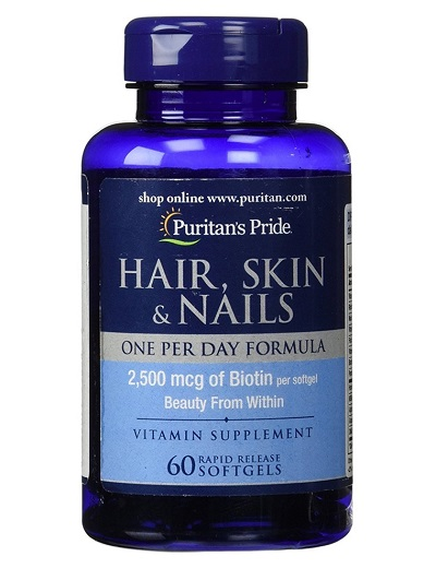 One Day Formula 2500 mg biotin hair growth lọ 60 viên puritan's pride