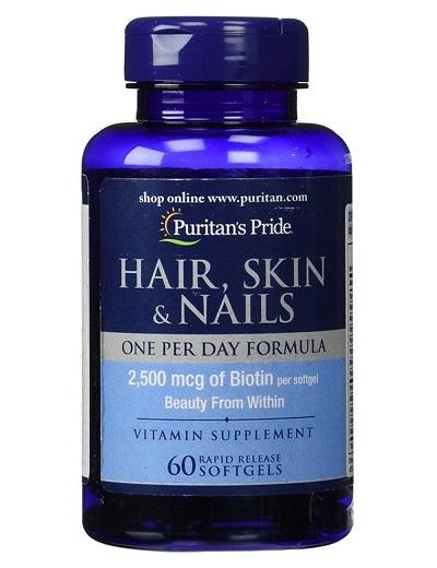biotin 2500 mg puritan's pride 60 viên
