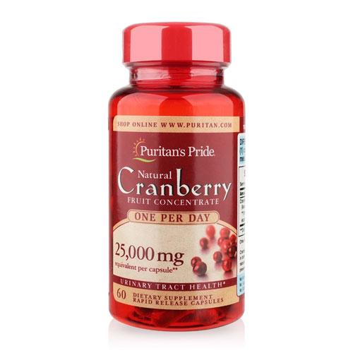 cranberry 25000 mg puritan's pride lọ 60 viên