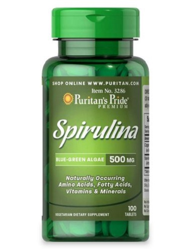 Spirulina 500mg lọ 100 viên puritan's pride premium