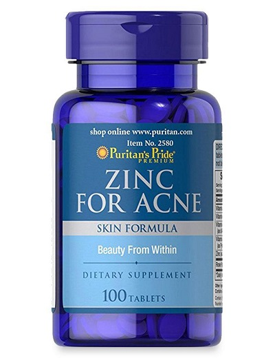 zinc for acne puritan's pride lọ 100 viên