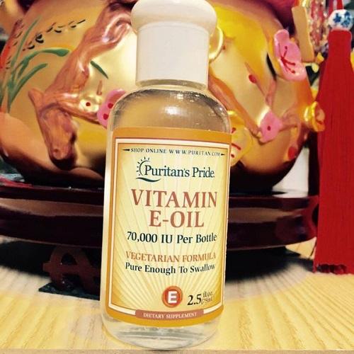 Tác dụng của vitamin e oil 70000 iu ngăn ngừa lão hóa và chống khô da
