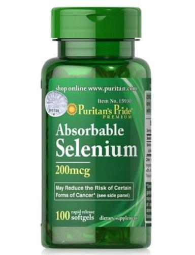 absorbable selenium 200 mcg lọ 100 viên puritan's pride