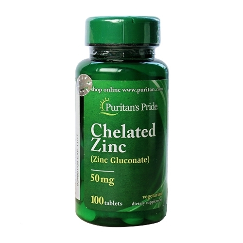 chelated zinc 50mg puritan's pride 100 viên