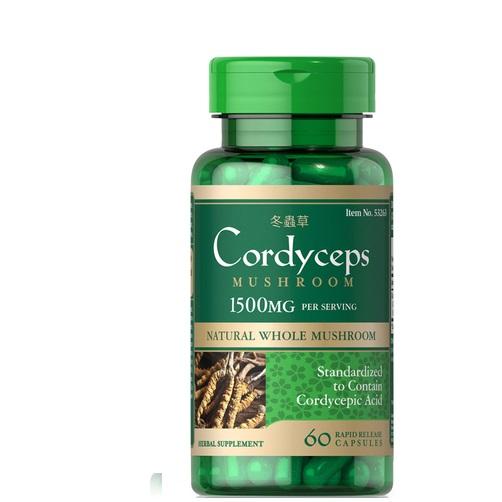 cordyceps mushroom 1500 mg puritan's pride 60 viên