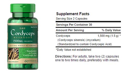 Người cao tuổi nên uống 2 viên cordyceps mushroom 1500 mg mỗi ngày
