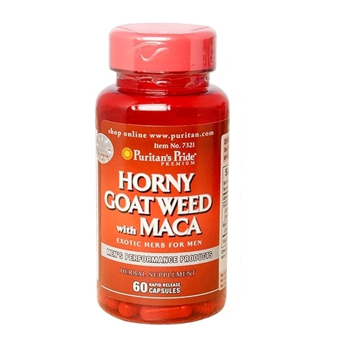 horney goat extract with maca 500 mg puritan's pride
