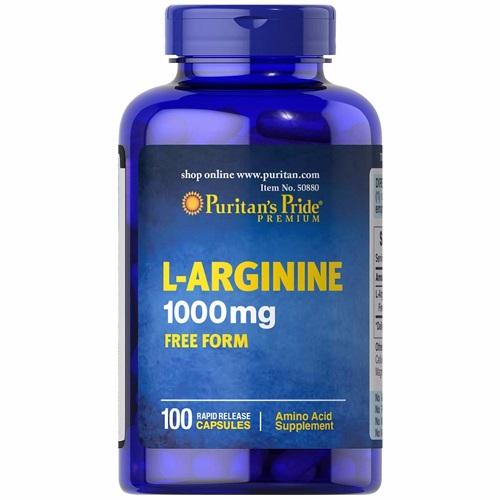 L-arginine 1000mg free form lọ 100 viên puritan's pride premium
