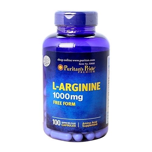 l-arginine 1000mg puritan's pride lọ 100 viên