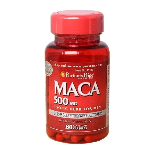 Maca 500mg exotic herb for man lọ 60 viên puritan's pride premium