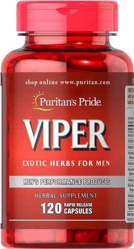 Viper exotic herbs for men lọ 120 viên puritan's pride premium