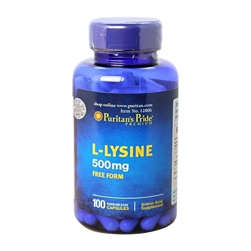l-lysine 500mg puritan's pride 100 viên