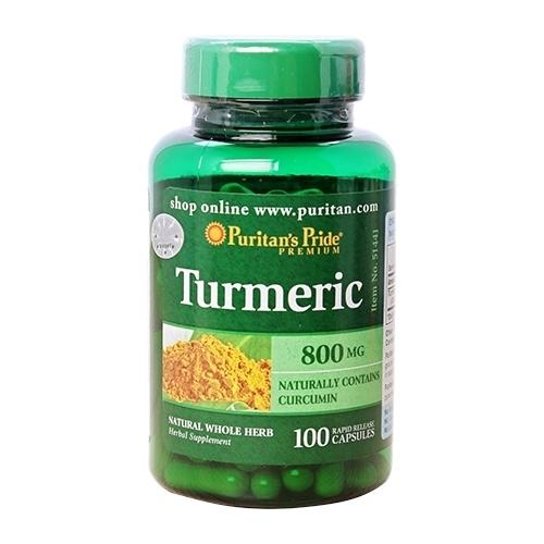 puritan's pride turmeric 800 mg lọ 100 viên