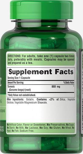 Người lớn uống 2 viên turmeric 800 mg một ngày ngăn ngừa ung thư