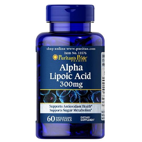 alpha lipoic acid 300mg puritan's pride 60 viên