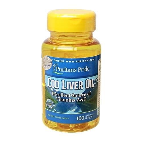 cod liver oil puritan's pride lọ 100 viên