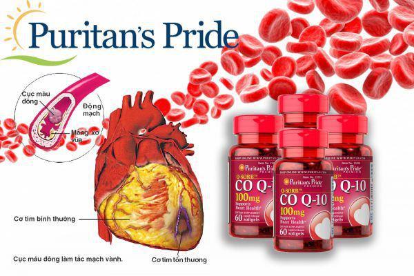 Q-sorb coq10 100 mg ngăn ngừa hình thành cục máu đông gây tắc mạch máu