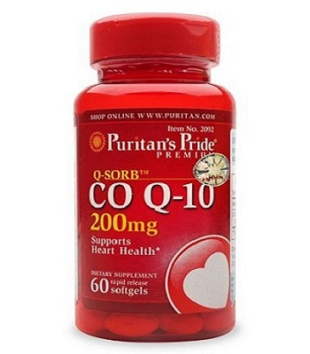 Coq10 q-sorb 200 mg Support Health Heart lọ 60 viên puritan's pride