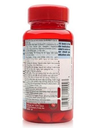 Puritan's pride q-sorb coq10 200 mg làm hạ lượng colesteron xấu LDL