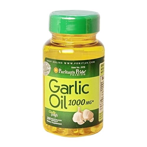 garlic oil 1000 mg puritan's pride 100 viên