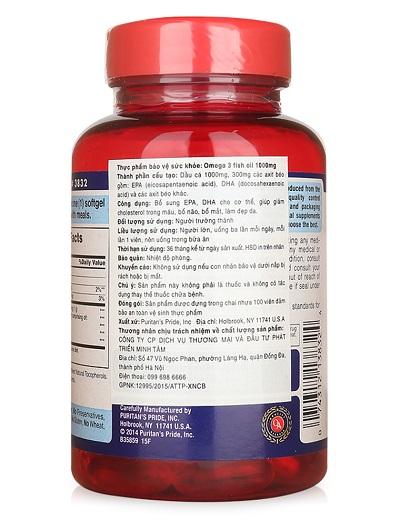 Omega 3 fish oil 1000mg tăng cường thị lực cải thiện tim mạch