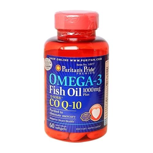 q10 omega 3 puritan's pride 60 viên