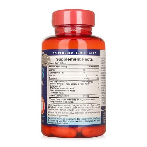 Người mỡ máu nên uống 3 viên q10 omega 3 fish oil 1000 mg mỗi ngày