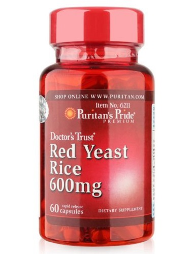 red yeast rice 600 mg puritan's pride 60 viên