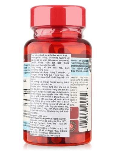 Red yeast rice 600 mg ngăn ngừa bệnh ung thư và kiểm soát tốt colesteron trong máu