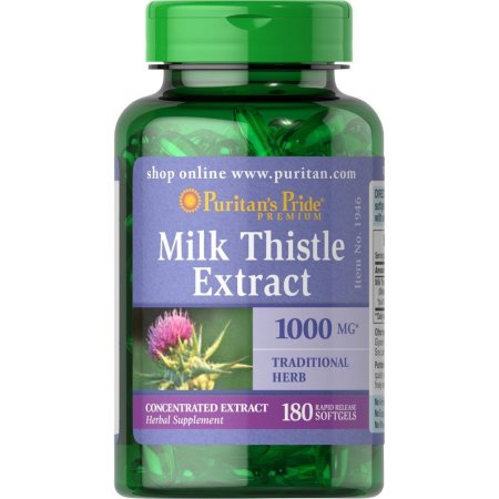 milk thistle 1000mg puritan's pride lọ 180 viên