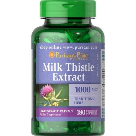 milk thistle 1000mg puritan's pride lọ 180 viên