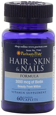 biotin 3000 mcg puritan's pride 60 viên