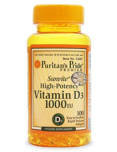 vitamin d3 1000 iu puritans pride 100 viên ngăn ngừa loãng xương