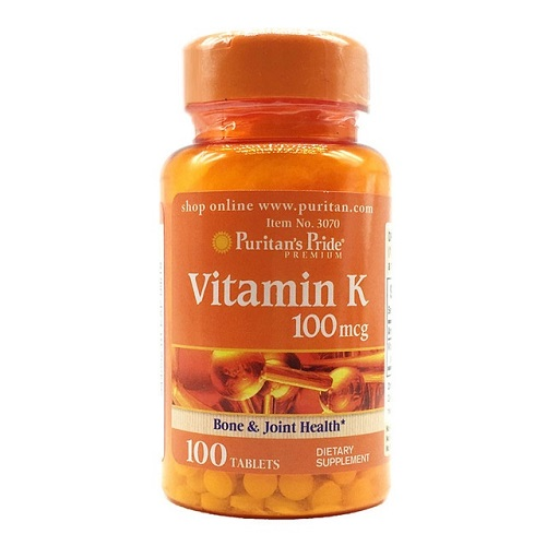 vitamin k 100mcg puritan's pride lọ 100 viên