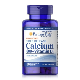 calcium 600 d3 high pocenty puritan's pride 60 viên