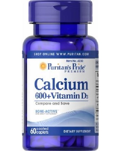 calcium 600mg vitamin d3 puritan's pride 60 viên