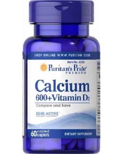 calcium 600mg vitamin d3 puritan's pride 60 viên