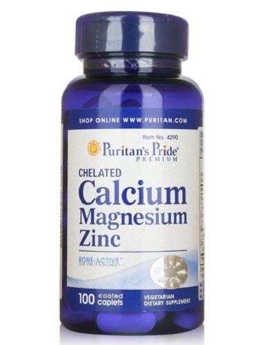 chelated calcium magnesium zinc lọ 100 viên