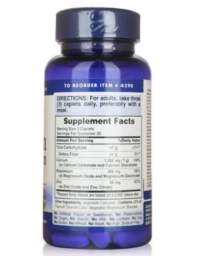 Người trưởng thành uống 1 viên chelated calcium magnesium zinc một ngày