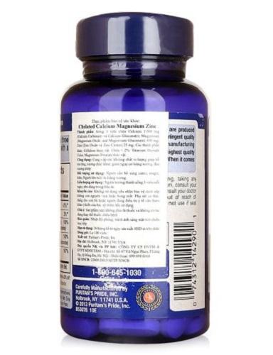 Chelated calcium magnesium zinc tốt cho xương khớp, tim mạch và sinh lý