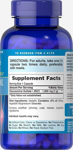 Glucosamine sulfate 1000 mg capsules hỗ trợ điều trị viêm khớp do thoái hóa
