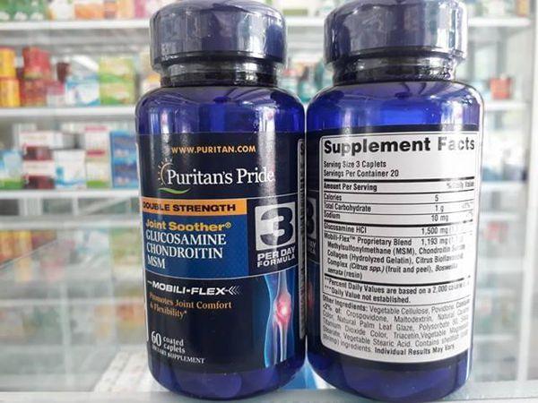 Người lớn uống 3 viên puritan's pride double strength glucosamine một ngày