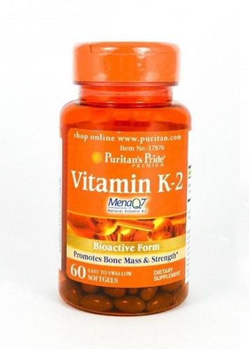 Để xương chắc khỏe chỉ cần uống 2 viên vitamin k2 puritan pride menaq7 mỗi ngày